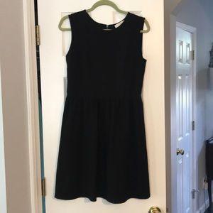 Loft black sleeveless stretch career dress